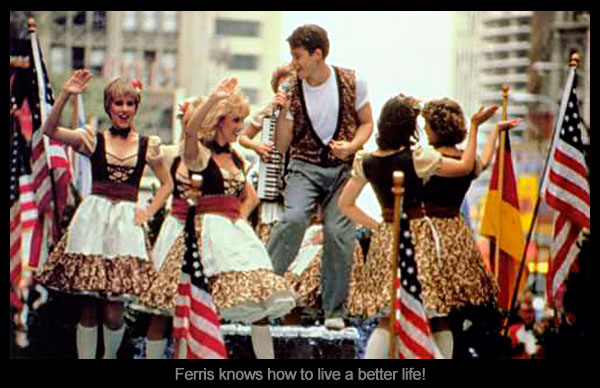 Ferris Bueller in a parade, a pic for a Mayniax Branding blog