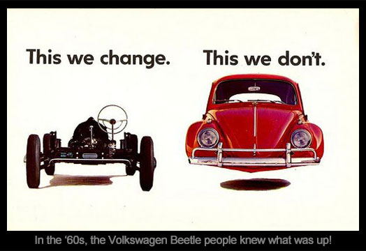 Mayniax Branding - Don't ever change, 1960s Volkswagen Beetle