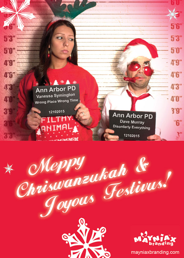 Dave Murray & Vanessa Symington of Mayniax Branding wish you all a Meppy Chriswanzukah & Joyous Festivus!