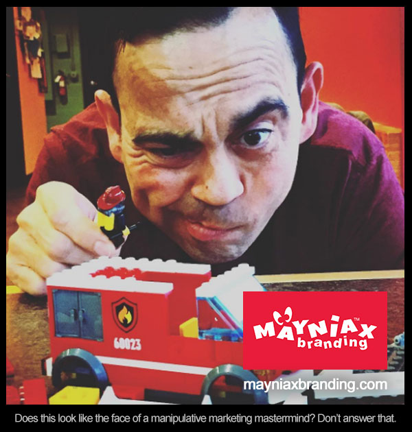 Dave Murray Mayniax Branding - Does this look like the face of a manipulative marketing masterrmind? Don't answer that.