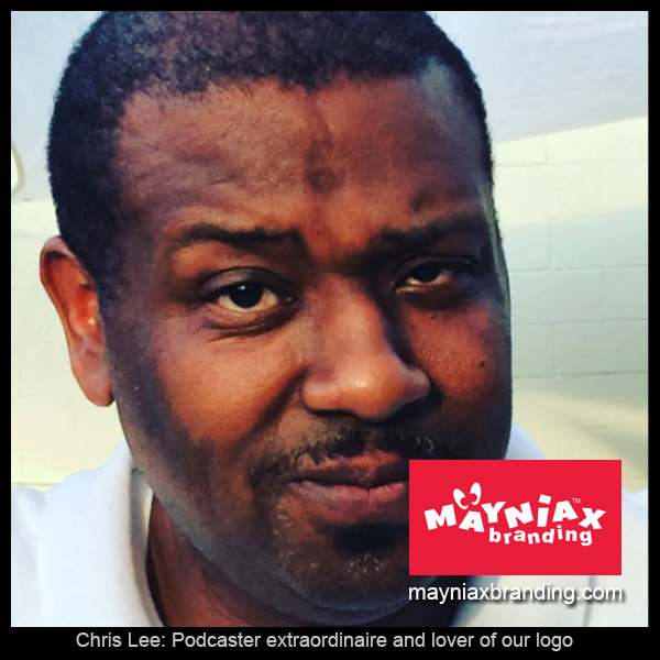 Mayniax Branding - Chris Lee Potcaster Extraordinaire and Lover of Our Logo