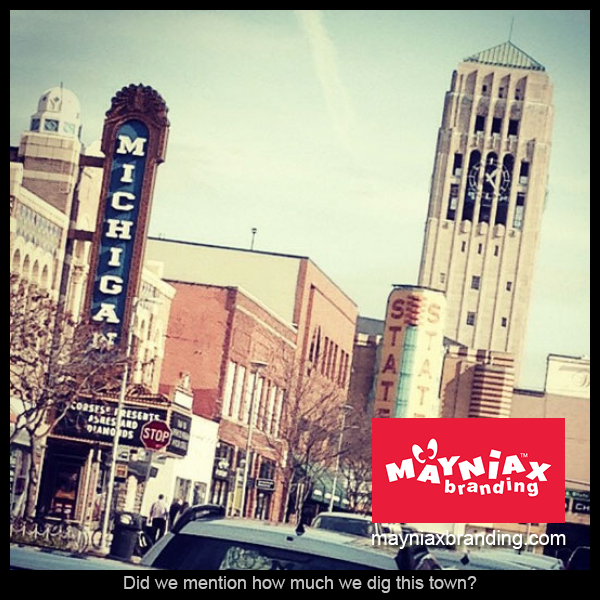 Mayniax Branding - The Michigan and State Theatres