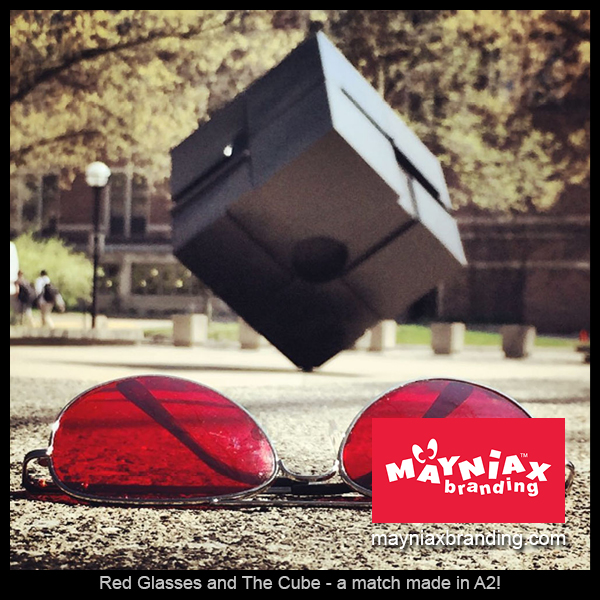 Mayniax Branding - Red Glasses and The Cube - a match made in A2!