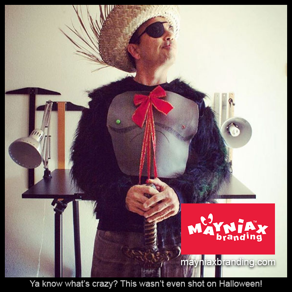 Dave Murray, of Mayniax Branding, in a costume nowhere near Halloween!