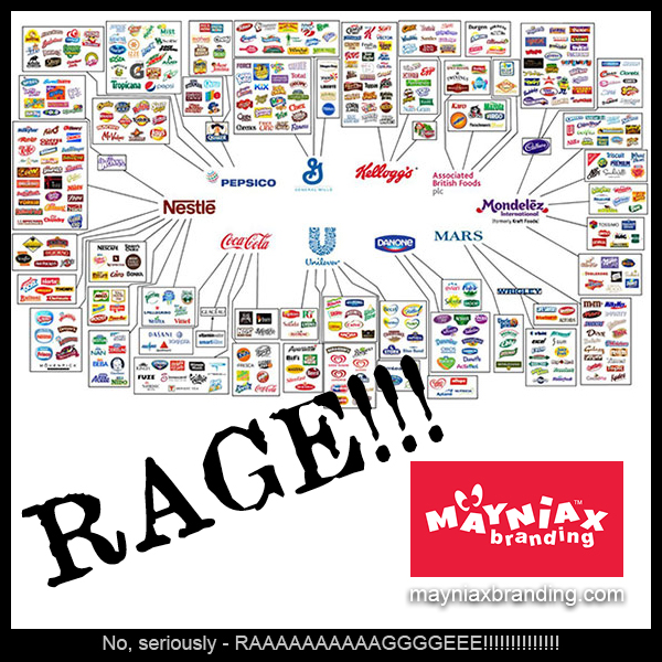 Photo showing all the brands the top 10 food corporations in the world own