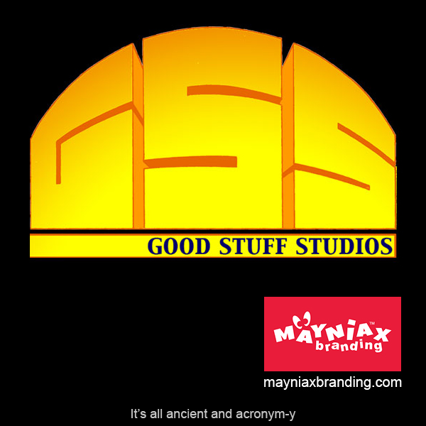 Mayniax Branding - The really old and acronym-y Good Stuff Studios logo