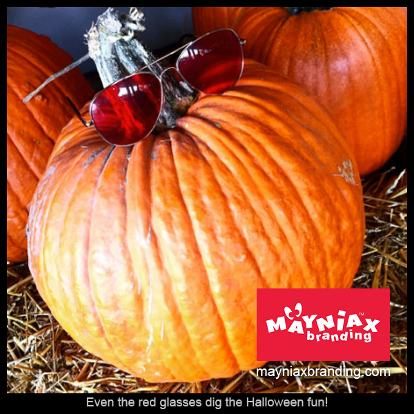 Mayniax Branding - Even the red glasses dig the Halloween fun!