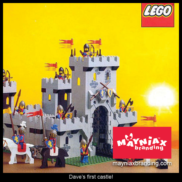 Dave Murray, Mayniax Branding - Dave's first castle was a LEGO one!