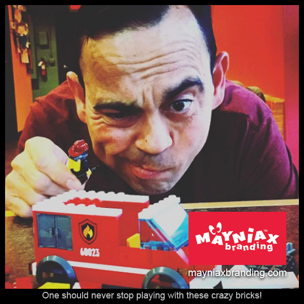 Dave Murray, Mayniax Branding - The Big Guy still plays with LEGOs!